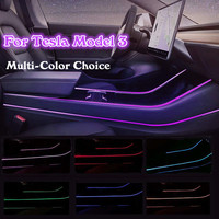 NEW Modification Car Interior Atmosphere Multi Color LED Light Modification Control Accessories for Tesla model 3 Light Strip
