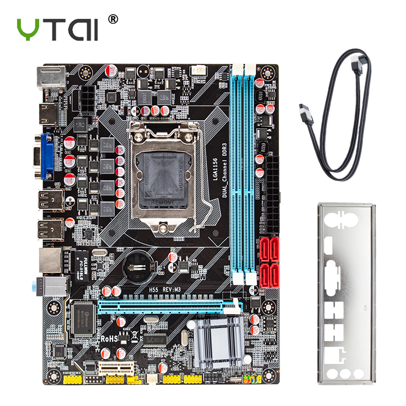 H55 <font><b>motherboard</b></font> new LGA1156 REV: M3 DDR3 supports I3 I5 I7 CPU <font><b>motherboard</b></font> PCI-Express USB port <font><b>motherboard</b></font> computer <font><b>motherboard</b></font> image