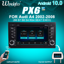 PX6 Car radio 2 DIN Android 10 autoradio For Audi A4 B6 B7 S4 B7 B6 RS4 B7 SEAT Exeo 2DIN car stereo multimedia navigation audio
