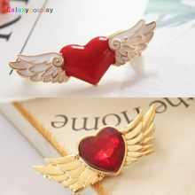 Tsukino Usagi Sailor Moon Kartu Captor Sakura Jantung Bros Lencana Pin Lucu Perhiasan Pesona Aksesori Cosplay Prop Gift Girl(China)