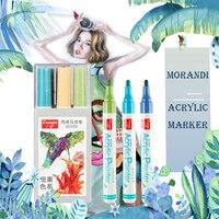 24 48 kleuren 2MM metaal kleur Acryl Permanente Verf Marker pen voor Keramische Rock Glas Porselein Mok Hout Stof canvas Schilderij