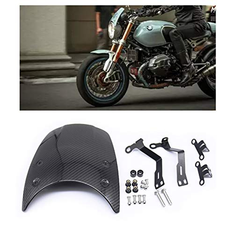 Burly Black Outlaw Front Headlight Fairing Windshield For Harley 35 39 41 49mm