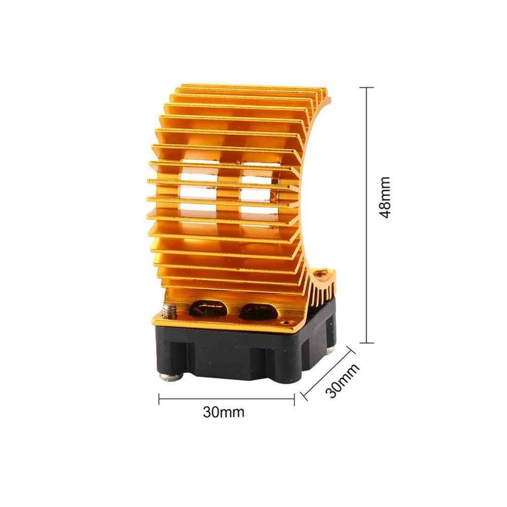 合金エンジンヒートシンクラジエーター冷却ファン熱放散 1/10 HSP RC ブラシレス車 380 390 モーター