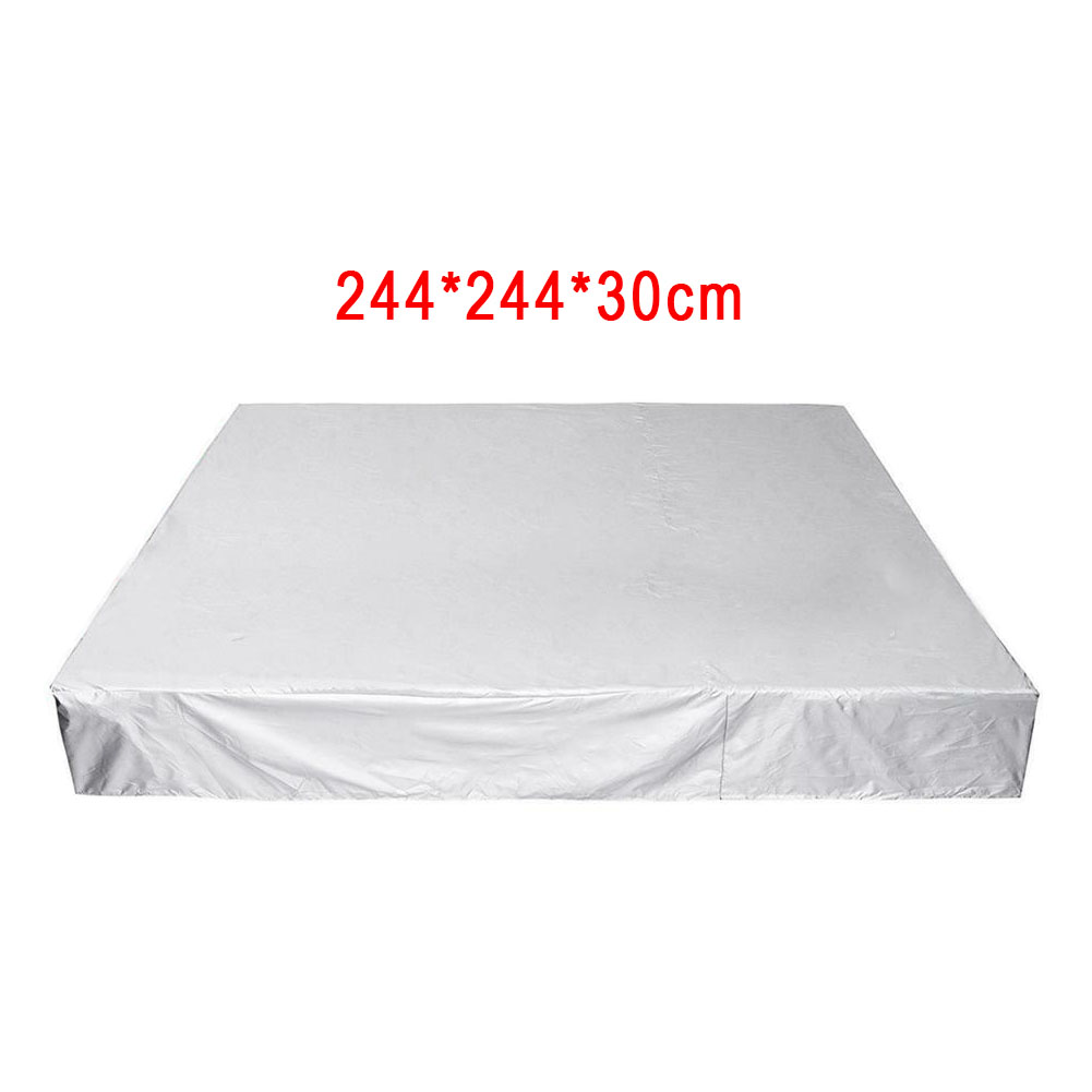 Anti UV Silver Elastic Spa Adjustable Heavy Duty Swimming Pool Dust Cover Polyester Rainproof Tub Cover Protective Outdoor