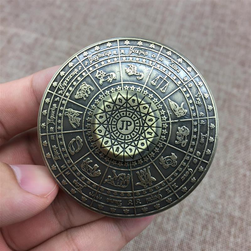 Twelve Constellation UFO Hand Spinner Round Vintage Fidget Spinner Relieve Stress Anxiety Autism Adults Children Gifts