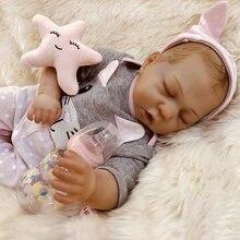 Reborn boneca 47.5 cm mão-desenho premie bebê menino cabelo realista real toque macio cuddly