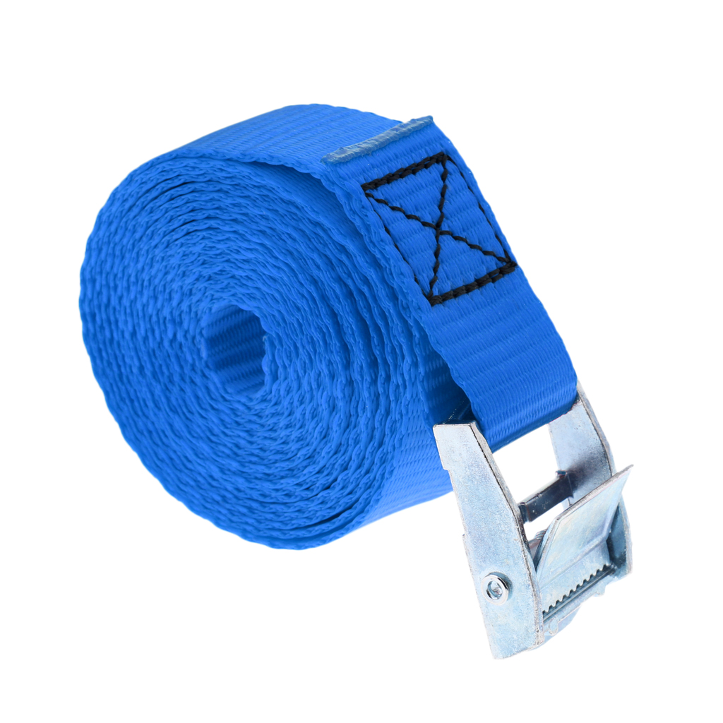 24 x 2.5M Long Cam Buckle Tie Down Cargo Straps Roof Rack Straps