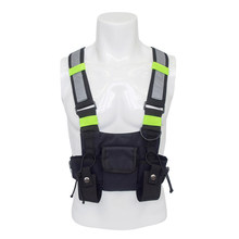 Survival Radio Vest Hiking Camping Adjustable Chest Bag Breathable Mesh(China)