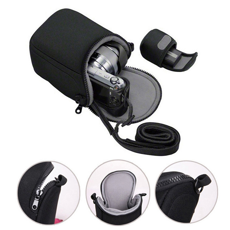 Waterproof Soft Camera Bag Case With Strap For Canon Eos M100 M50 M10 M6 M5 M3 M2 G1Xiii G1Xii Sx530 Sx540 Sx430 And For Panason image
