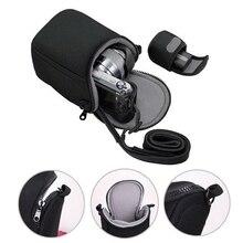 Bolsa de câmera macia com alça para canon, à prova d água, eos m100 m50 m10 m6 m5 m3 m2 g1xiii g1xii sx530 sx540 sx430 e para 256on