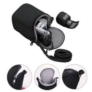 Image 1 - Su geçirmez yumuşak kamera çantası için kayış ile Canon Eos M100 M50 M10 M6 M5 M3 M2 G1Xiii G1Xii Sx530 Sx540 sx430 ve panasonic