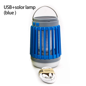 Image 5 - 2 in1 LED USB Solar power Mosquito Killer Lamp protable Lantern Outdoor Repellent light Insect Bug mosquito Trap moskito camping
