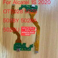 1pcs Neue Lade Port Bord Für Alcatel 1S 2020 OT5028 5028 5028Y 5028A 5028U 5028D Flex Kabel Ersatz USB Ladegerät Dock