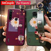 SoCouple Fall Für Redmi Hinweis 9 pro 9s 8 7 Pro Fall Für Xiaomi 9t A3 9 Lite poco x3 Telefon Halter Handgelenk Riemen TPU Abdeckung