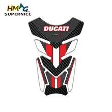 Motosiklet Ducati Sticker evrensel kılıf koruyucu yarış etiket jel yakıt yağ tankı Pad balık kemik karbon Fiber