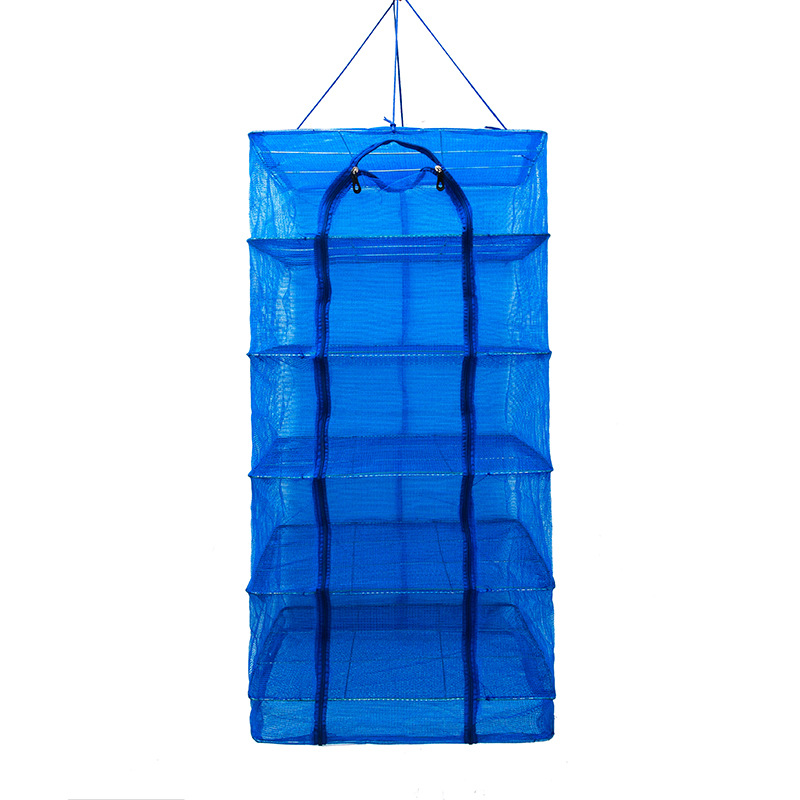 New Style Foldable Fish Drying Net Fly Cage Circle Sun Dried Fish Of Grid Sun Dish Useful Product Cargo Air Dry Cage Fishnet Hou