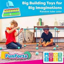 Zestaw do budowania fortu dla dzieci DIY zestaw do budowania fortów Forts Builder klocki klocki prezent dla chłopców i dziewcząt TN tanie tanio CN (pochodzenie) Toys Z tworzywa sztucznego
