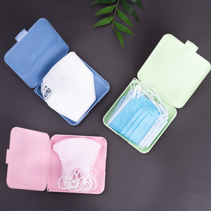 Portable Disposable Mouth Mask Storage Box Dust-proof Pollution-Free Disposable Mask Case Face Masks Holder Organizer Container(China)