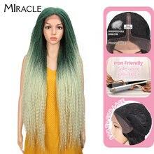 Чудесный кудрявый прямой парик переплетенный Омбре зеленые парики