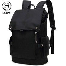 Scione גברים אופנה תרמיל מחשב נייד תרמיל לגברים 2020 עמיד למים נסיעות חיצוני תרמיל בית ספר בגיל ההתבגרות המוצ ילה תיק