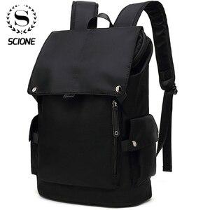 Image 1 - Scione Men Fashion Backpack Laptop Backpack For Men 2020 Waterproof Travel Outdoor backpack School Teenage Mochila Bag