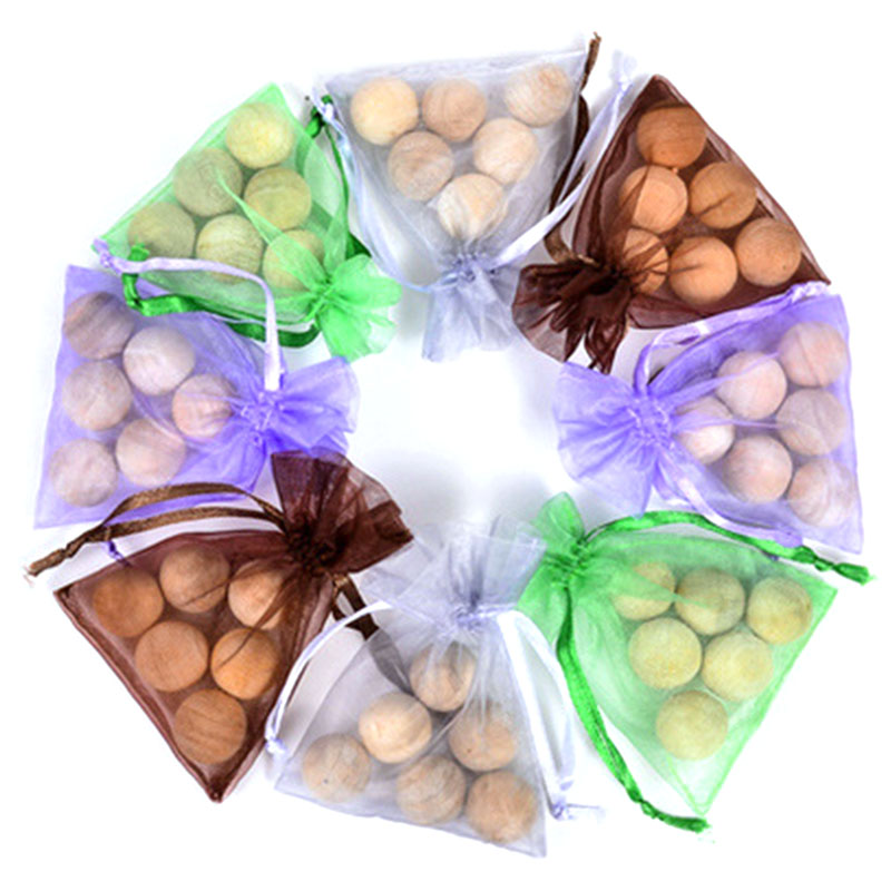 6Pcs/bag Pure Natural Fragrant Balls Camphor Balls Eucalyptus Balls Pest Control Moth Repellent Prevent Mildew Moistureproof