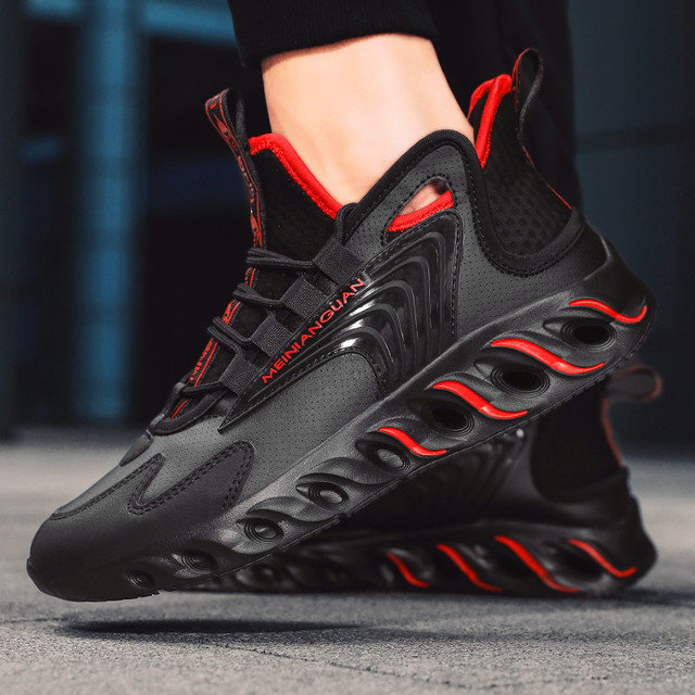 Autumn New Blade Men's Shoes Fashion Comfortable Running Shoes Breathable and Skid-proof Sports Shoes Walking Leisure Shoes 2