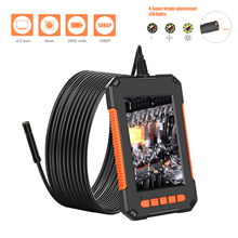 "Industrial HD Endoscope Camera IP67 8mm Len 4.3"" LCD Screen Borescope 1080p Inspection Camera 2600 mAh 8 LED Screen Endoscope"