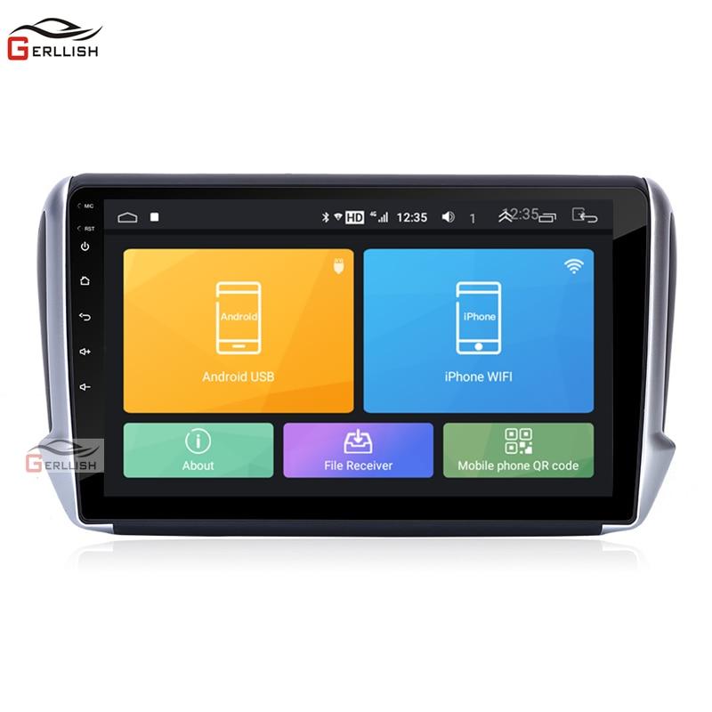 10.2 cal stereo samochodowe z androidem nawigacja gps odtwarzacz dvd do Peugeot 208 2012-2018