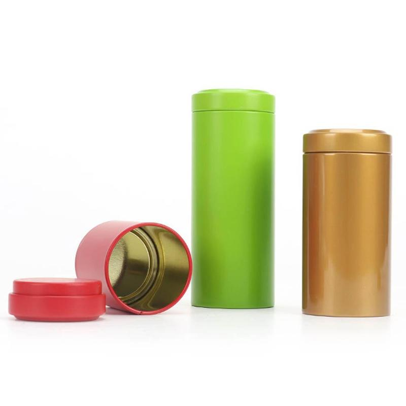 1pc Multi Color Stainless Steel Container Airtight Smell Proof Stash Herb Container Jar Weed Bud Box Durable Organizer