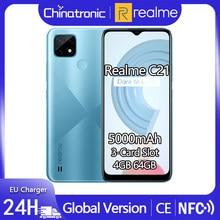 Realme – smartphone, C21, ram 4 go, rom 64 go, 6.5