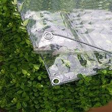 Прозрачный садовый тент ткань брезент утолщение ПВХ прозрачный холст садовые качели балкон окно растение покрытие ткань