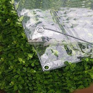 Transparent garden shade cloth tarpaulin thickening pvc transparent canvas garden swing balcony window plant cover cloth(China)