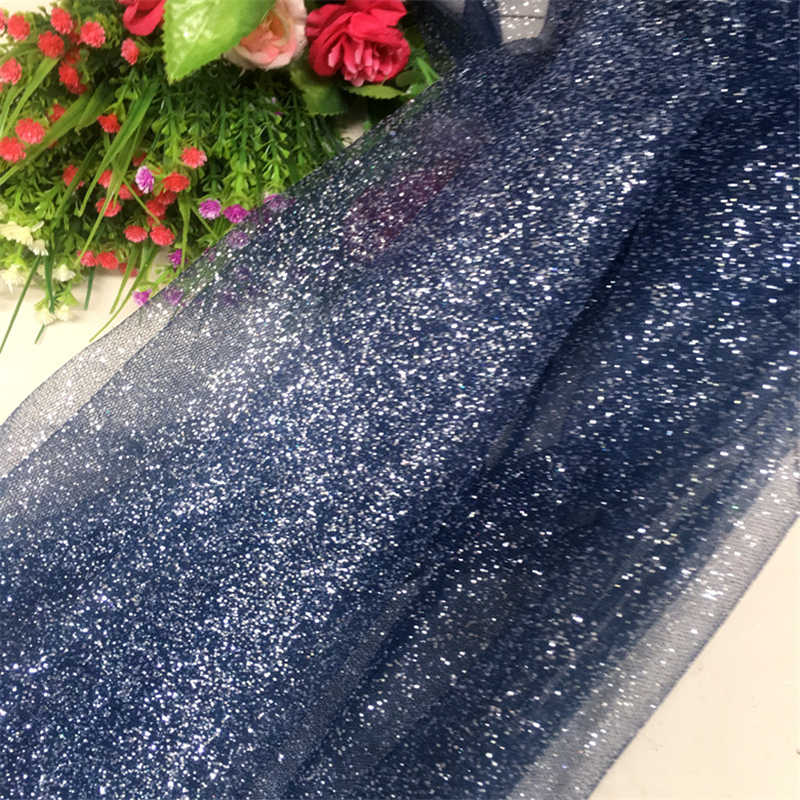 Nueva tela bronceada de malla negra con purpurina, disfraces de bricolaje de diseñador, decoración, tela de tul elástica, transpirable, brillante en color bronce