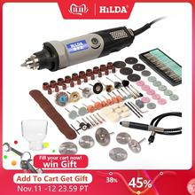HILDA vitesse Variable outil rotatif outils électriques 400W Mini perceuse 6 position pour Dremel outils rotatifs mini rectifieuse