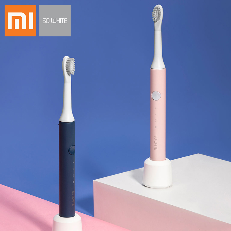 New Xiaomi SOOCAS SO White EX3 Sonic Electric Toothbrush Waterproof Inductive Charging Clean Ultrasonic Smart Toothbrush Gift image
