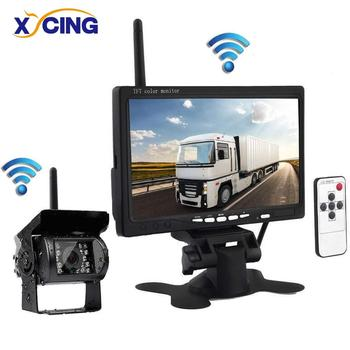 "XYCING Wireless Backup Camera kit, 7"" LCD Monitor, IP69 Waterproof IR Night Cam for Trucks/RV /Trailer/Pickups /Camper/Bus /Vans"