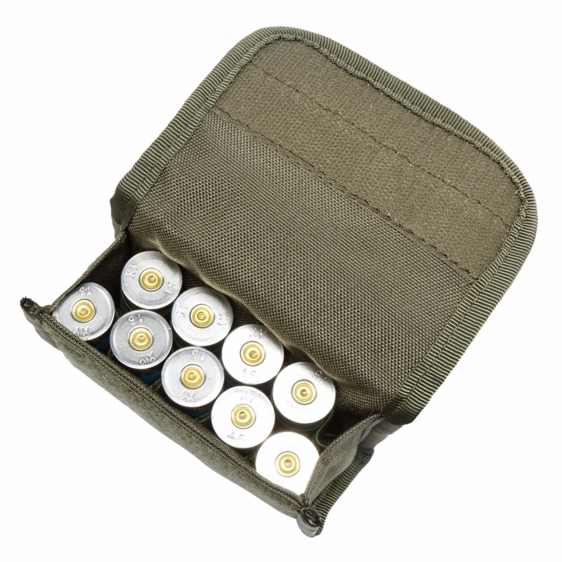 Hunting Tactical 10 Rds Shotshell Holder Molle Pouch 12 Gauge 20GA Airsoft Magazine Ammo Bag Bandolier Cartridge Bullet Pouches