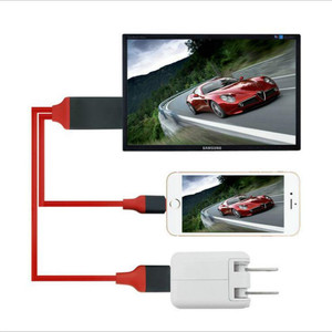 2M USB to HDMI HDTV AV Cable Adapter for iPhone 7 7 Plus 6S 6 Plus Charging Adapter Cable(China)