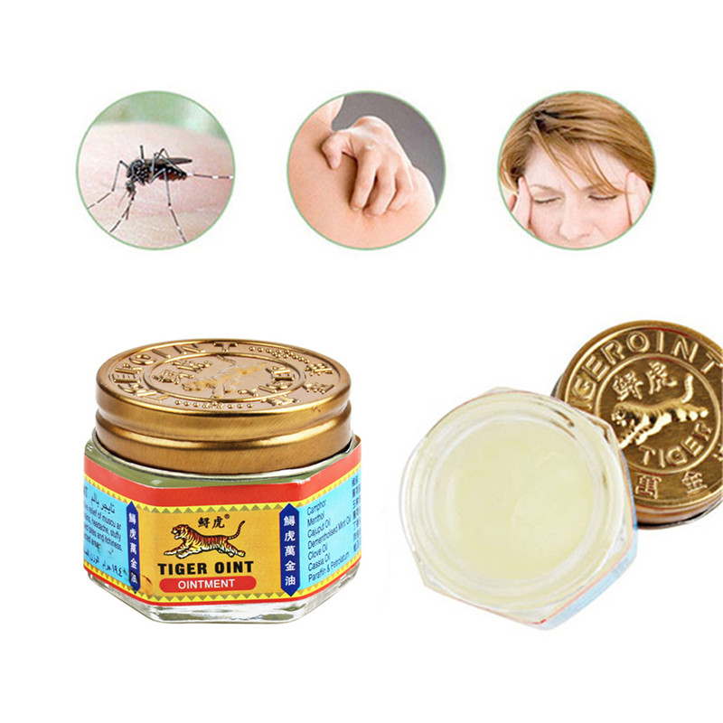 19.5g White Tiger Balm Ointment Thailand Painkiller Ointment Muscle Pain Relief Ointment Soothe Itch  Insect Bites Swelling Ache