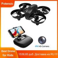 Mini Drone potensico con videocamera WiFi FPV modalità senza testa 2.4G RC Quadcopter telecomando giocattoli per bambini e principianti facile da volare