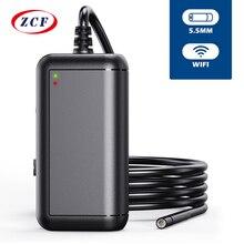 Cámara endoscópica F220 5,5mm WIFI HD1080P 2.0mp, boroscopio, inspección IP67, impermeable, USB, cámara endoscópica para Android, Iphone