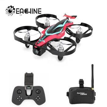 Eachine E013 Plus FPV Racing Drone Quadcopter Anti-Turtle Mode w/ 5.8G 48CH 1000TVL Red and White Camera VR006 Goggles