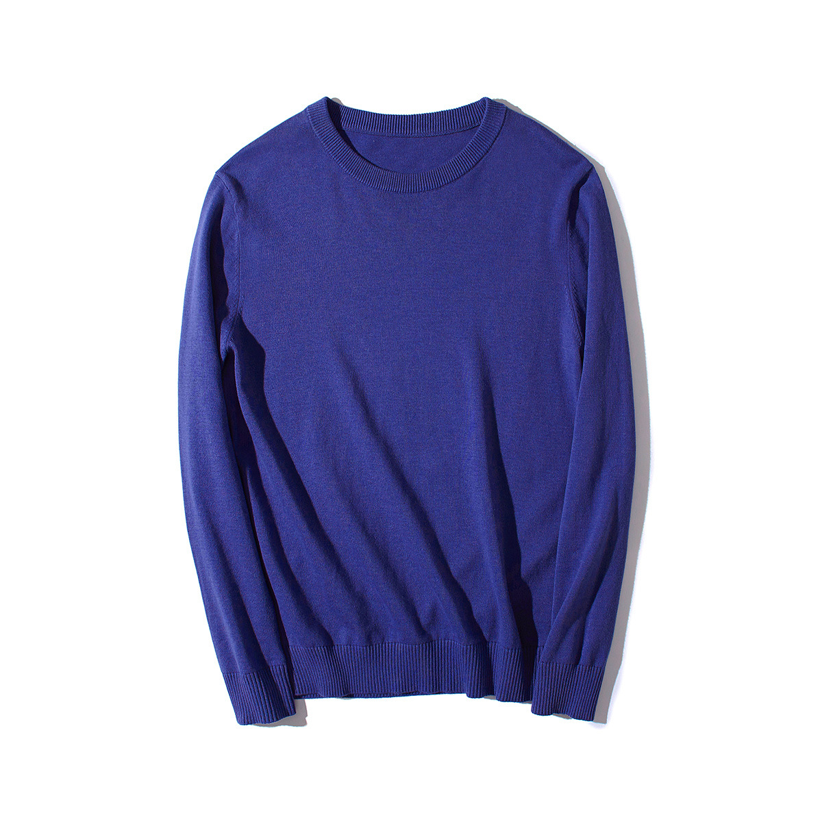 Sweater Men Long-Sleeve Pullover Knitwear Oversized Male Autumn Casual Fashion Blue 3xl