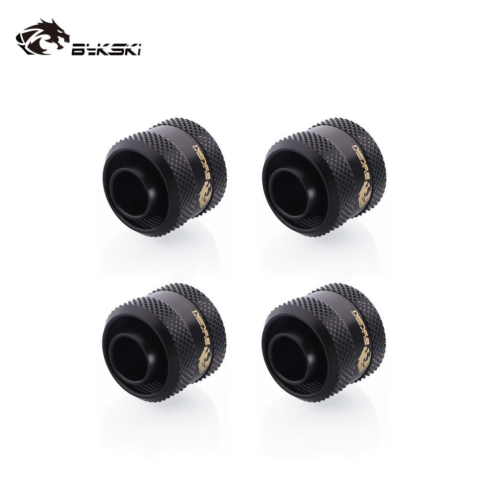 4pcs/lot Bykski Hose Fitting Use For ID 9.5mm + OD 12.7 Pipes 3/8