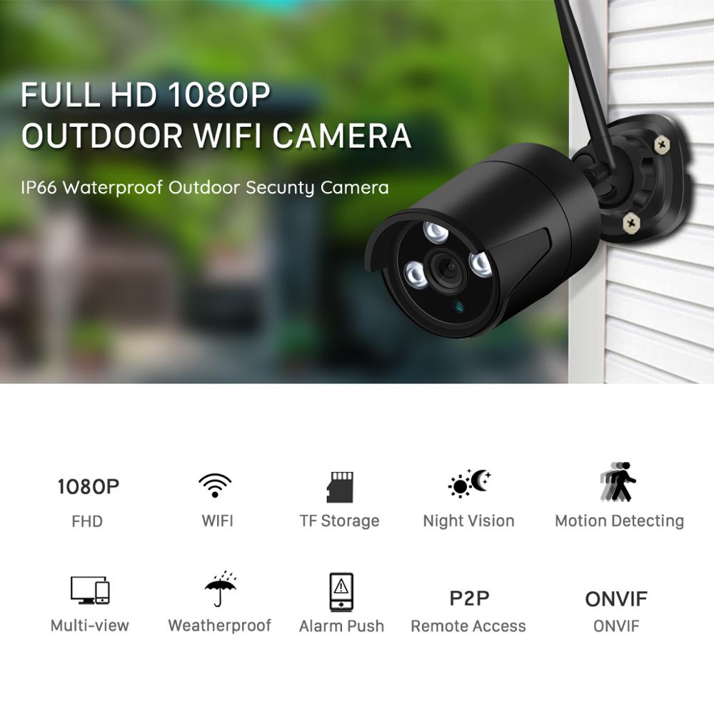 Image 2 - BESDER 2MP Wireless IP Camera 1080P HD Night Vision Outdoor  Wifi Camera IP Onvif TF Card Storage Waterproof CCTV Surveillance-in Surveillance Cameras from Security & Protection