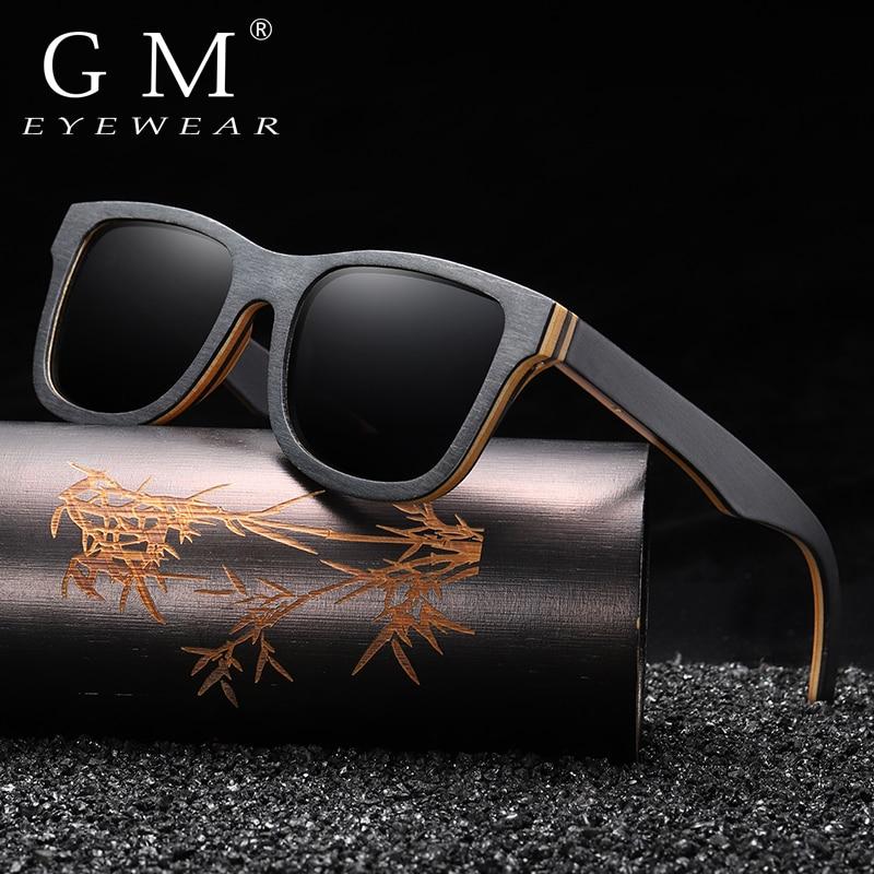 GM  Fashion Sunglasses Men Women Polarized Mirror UV400 Sun Glasses Full Frame Wood Shades Goggles Classic Handmade