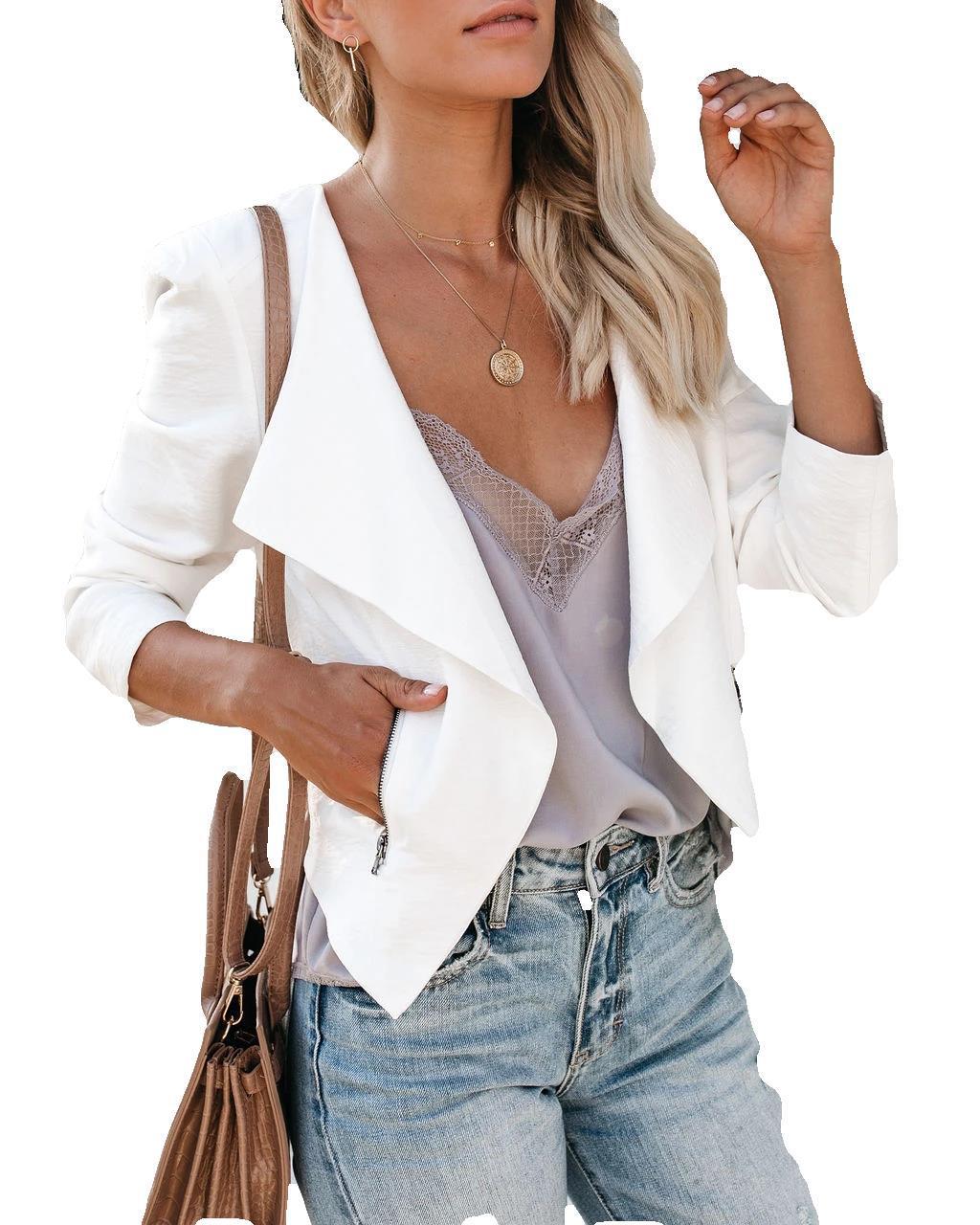 Women Blazer Winter Clothes Gothic Blazers 2019 Harajuku Womens Tops Fall 2018 Casual White Girl Jackets Plus Size
