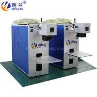 20 w desktop portátil handhold multifunções máquina de marcação a laser fibra marcador gravar mopa cor opção giratória