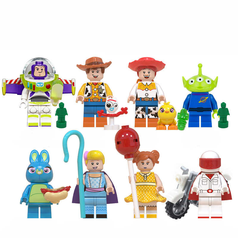 Toy Story Buzz Lightyear Woody Jessie Lotso Rex Dinosaur 4 Bullseye Cavalo little green men Action Figure Toys 3/ 7/9/10/17 Pcs